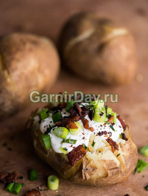 Запеченный 10-минутный картофель