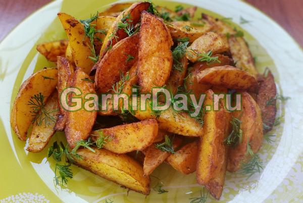Пикантный картофель по-деревенски