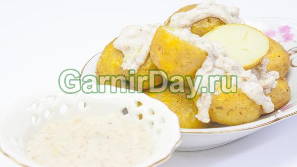 Картофель в рукаве с соусом бешамель